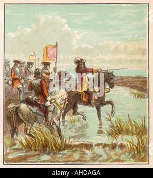 Batalla del Boyne Foto de stock