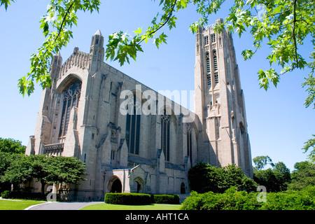 Chicago Capilla Rockefeller no confesional en el campus de la Universidad de Chicago en Hyde Park. IL de Chicago, Foto de stock