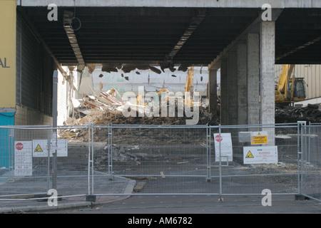 La demolición y reconstrucción de parte de Manchester del centro Arndale