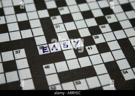 Crucigrama con palabras fáciles