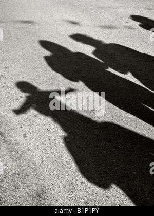 Sombras en el día de carnaval. Foto de stock