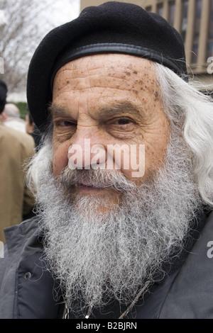 Retrato de un hombre barbado Roma Italia
