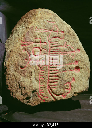 Eon, petrógrafos, la edad tardía del bonze, 1400 - 400 AC, Engelstrup, Zelanda, Museo Nacional, Copenhague, Dinamarca, religión, sol, barco, hombres, Sjaeland, petrografía, histórico, histórico,