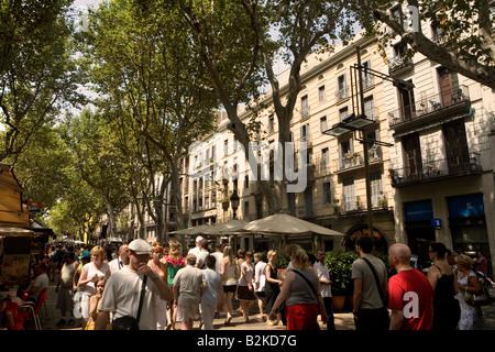 La Rambla de Barcelona, Cataluña, España