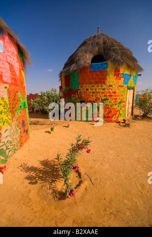 Colonia de Artistas, el Gran Desierto de Thar, cerca de Jaisalmer, Rajasthan, India, el subcontinente, Asia Foto de stock