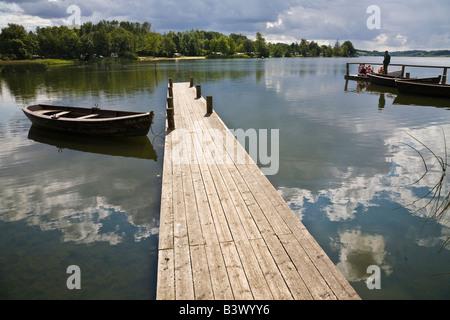 En Jetty Farup Farup Sø (lago), Jelling, Jutlandia, Dinamarca