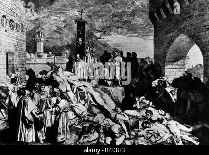 Medicina, enfermedad, peste en Florencia, 1348,