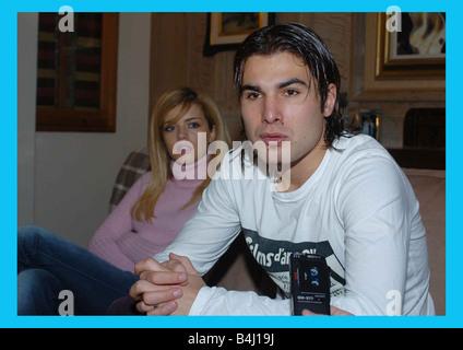 Adrian Mutu de enero de 2005 delantero rumano de 26 años que fue despedido del Chelsea FC en septiembre de 2004 tras una droga aleatorio