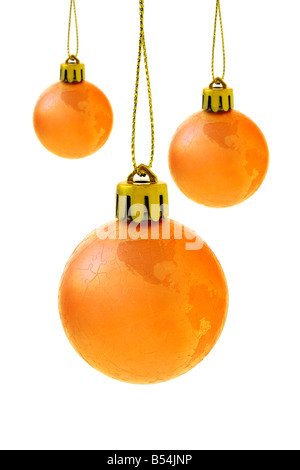 Navidad Bolas de globo sobre fondo blanco.
