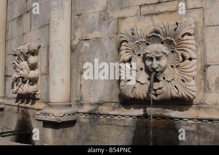 Detalle de la gran fuente de Onofrio, Dubrovnik, Croacia