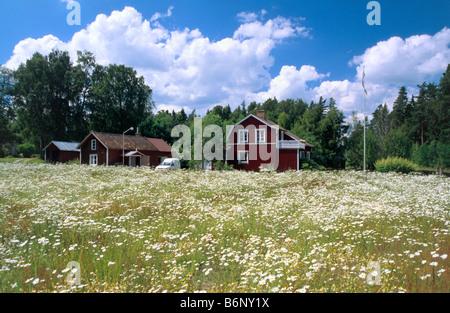 Casa típica de Suecia Västergötland, Suecia