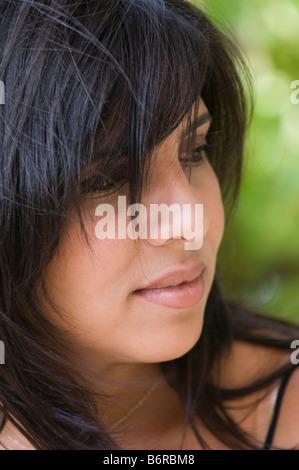 Bella mujer pensando Foto de stock