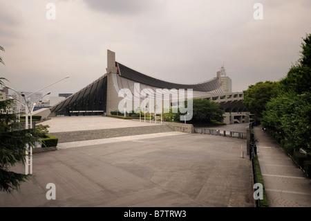 El Gimnasio Nacional Yoyogi. Diseñado por Kenzo Tange y construido entre los años 1961 - 1964. Yoyogi Park. Shibuya. Tokio. Japón