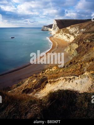 Los acantilados de Bats Head y Swyre Head por Durdle Door en la Costa Jurásica Dorset, West Lulworth, Dorset, Inglaterra