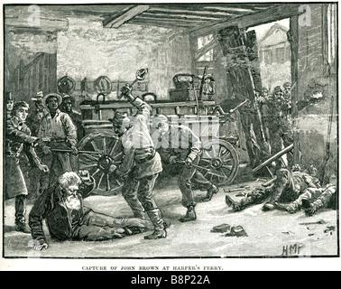 Capturar John Brown Harper's Ferry 1859 Virginia abolicionistas de la esclavitud Pottawatomie masacre