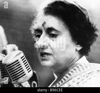 El Primer Ministro de la India, Indira Gandhi Foto de stock