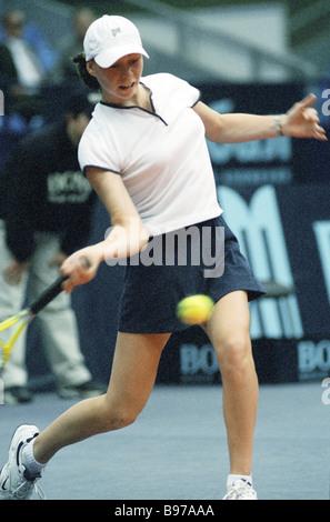 La tenista rusa Vera Zvonareva en la Copa Kremlin de 2000 Torneo Internacional de Tenis