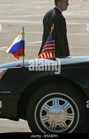 U S el presidente George W Bush dejó en el aeropuerto de Pulkovo de San Petersburgo