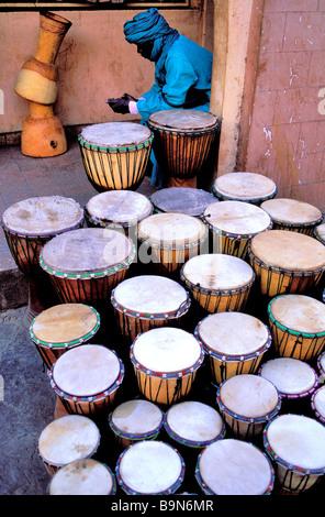 Malí, región de Mopti, Sofara, griots, músicos tradicionales Foto de stock