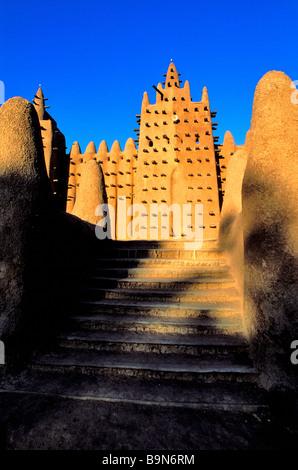 Malí, región de Mopti, Djenne, clasificado como Patrimonio Mundial por la UNESCO, la Gran Mezquita (La mezquita Foto de stock