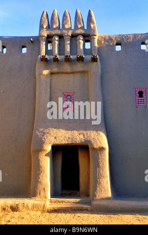 Malí, región de Mopti, Djenne, clasificado como Patrimonio Mundial por la UNESCO, Maiga House, casa de estilo Toucouleur Foto de stock