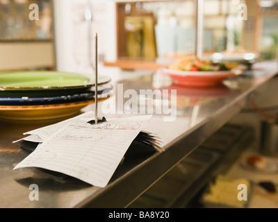 Pedido de alimentos spike en el restaurante Kitchen