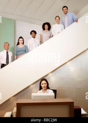 Retrato de los empleados de la oficina.