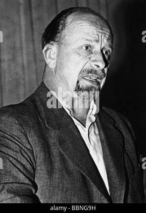 Ulbricht, Walter, 30.6.1893 - 1.8.1973, político alemán (KPD/SED), retrato, finales de 1940, ,