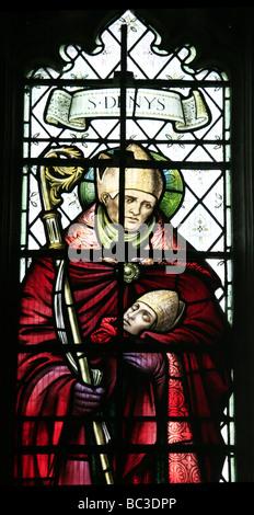 Vidriera representando Saint Denys Bloxham Oxfordshire