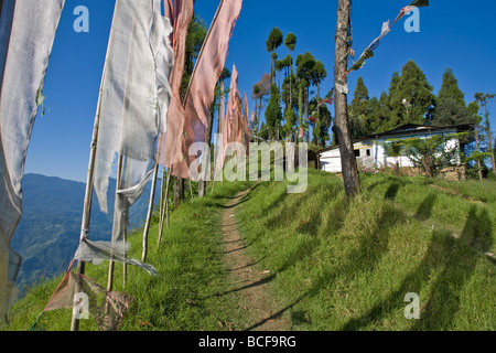 India, Sikkim, Pelling, Sangachoeling Gompa Gompa, el segundo más antiguo de Sikkim Foto de stock