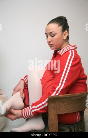 Una adolescente, bailarina de ballet, UK 2009