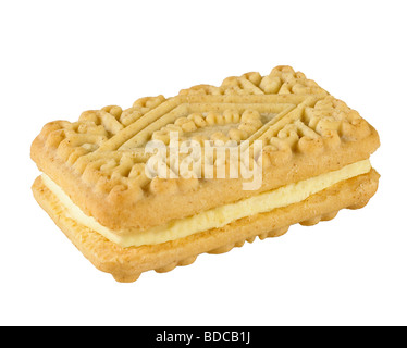 Crema de flan Biscuit Foto de stock
