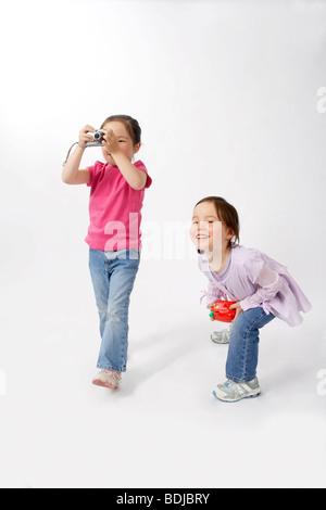 Las niñas con cámaras