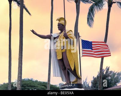 Ee.Uu., Hawai, la Isla Grande, en el norte de Kohala, Distrito Kapaau, la estatua del rey Kamehameha el grande
