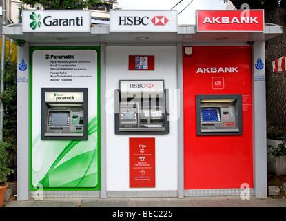 Estambul TURQUÍA máquina para tarjetas de crédito en efectivo del Banco Garanti HSB Akbank