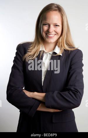 Feliz mujer de negocios Foto de stock