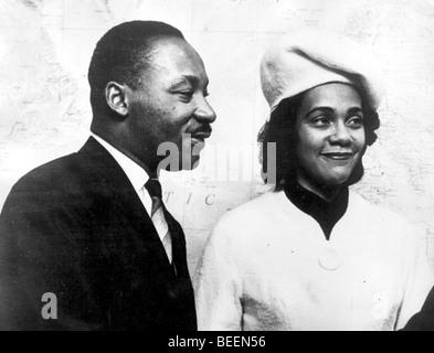 Martin Luther King, Jr. con su esposa Coretta Scott King