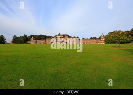 East Frontage de Wentworth Woodhouse, Wentworth, Rotherham, South Yorkshire, Inglaterra, Reino Unido.