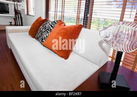 Interior de una sala de estar Foto de stock