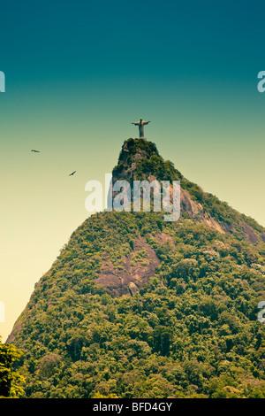 Corcovado y Jesús Redentor en Río de Janeiro, Brasil