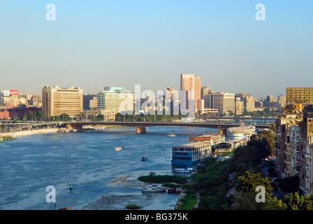 Corniche El Nil, el río Nilo, El Cairo, Egipto, el Norte de África, África