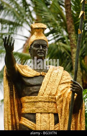 La estatua del rey Kamehameha el Grande, Big Island, Hawaii, Estados Unidos de América, América del Norte