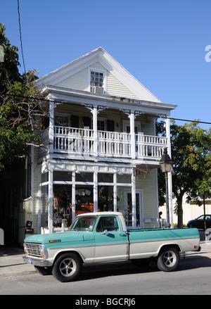 Escena callejera en Key West, Florida, EE.UU.