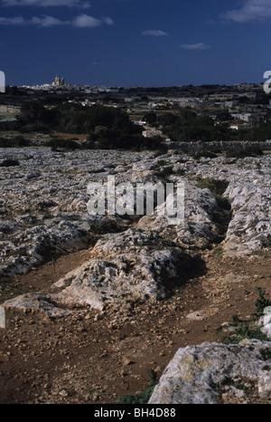 Carrito roderas, cerca de Dingli, Malta