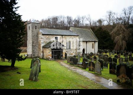San Gregorio iglesia Minster, Kirkdale, North Yorkshire Foto de stock