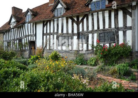 William Shakespeare's madre Mary Arden, su casa en Wilmcote justo en las afueras de Stratford upon Avon, Warwickshire, Reino Unido.