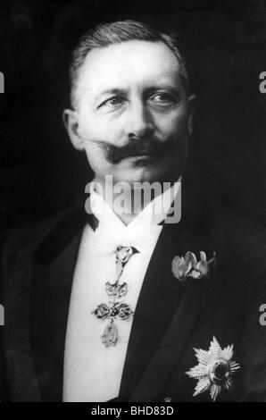 Guillermo II, 27.1.1859 - 4.6.1941, emperador alemán 15.6.1888 - 9.11.1918, retrato, 1907, ,