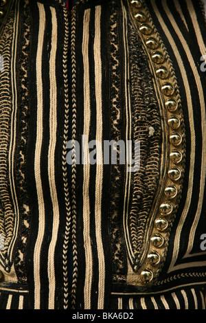 Continental tradicional uniforme de los Evzones en Atenas, Grecia. Foto de stock