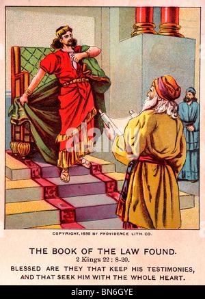 """Ilustración antigua Bible-Card 'El libro de la ley"""" encontrado"""
