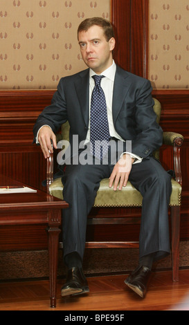 1PM adjunto Dmitry Medvedev y el Ministro de Relaciones Exteriores alemán, Frank-Walter Steinmeier reunirse en Moscú
